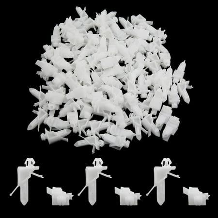 100pc 7x10mm Taille Trou Clip Plastique Roue Arc Couverture Attache Blanc - image 1 de 2