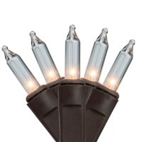 Northlight 150ct Heavy-Duty Commercial Grade Mini Christmas Lights Clear - 37.5' Brown Wire
