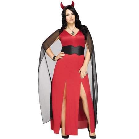 Devilicious Womens Red Devil Lucifer Plus Size Halloween Costume-2X - Girl Devil Halloween Makeup
