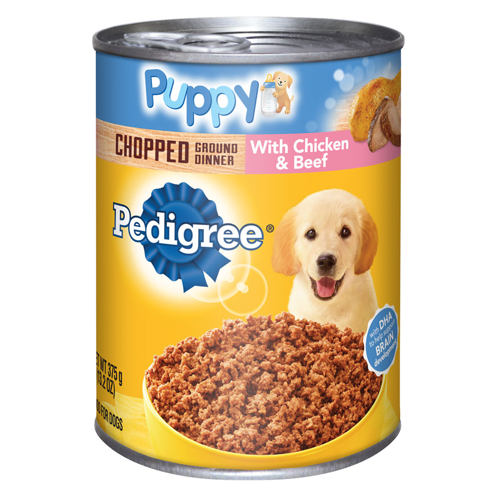 PEDIGREE Puppy Chopped Ground Dinner With Chicken and Beef Canned Dog Food 13.2 oz