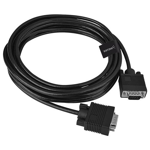 Insten Premium VGA Monitor Extended Cable 15 pin M/M, 15 FT / 4.6 M, Black