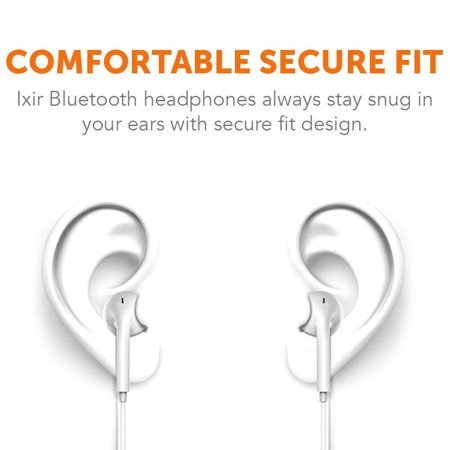 Ixir BlackBerry Curve 9220 Bluetooth Headset In-Ear Running Earbuds IPX3 Water Resistant with Mic Stereo Earphones, CVC 6.0 Noise Cancellation, works with, Samsung,Google Pixel,Lg Curve Stereo Headset