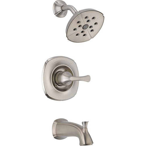Delta Addison Single Function Pressure Balanced Bath and Shower Trim with H2Okinetic Shower Head Less Rough-in, Available in Various Colors