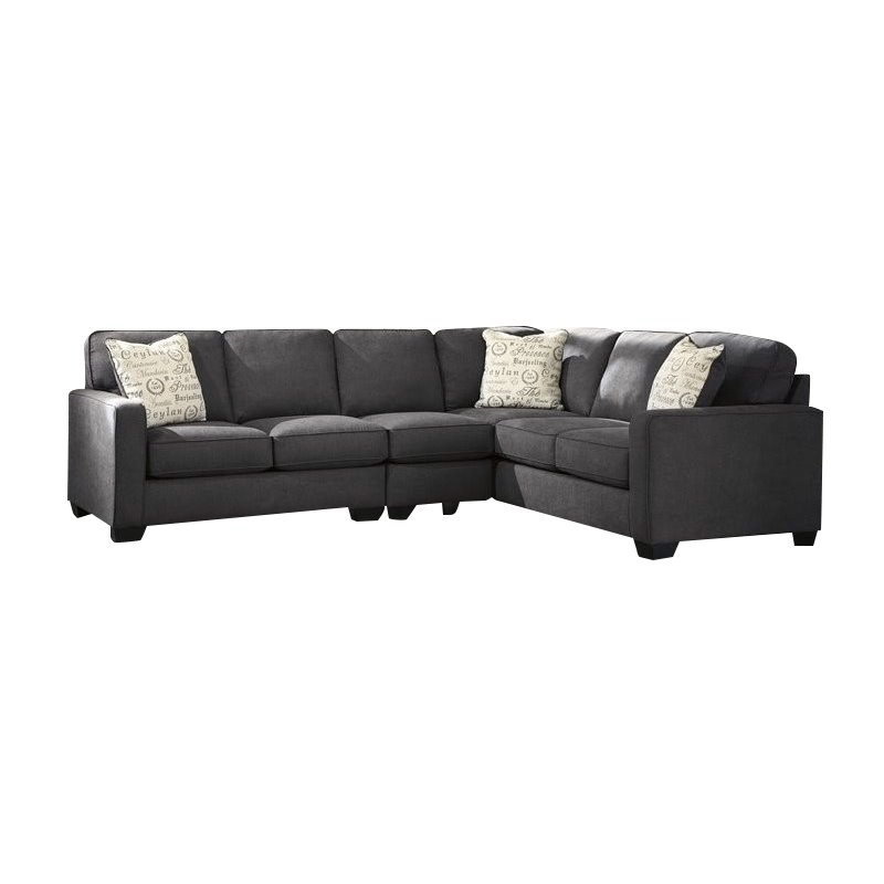 ashley furniture alenya right facing 3 piece sectional in charcoal