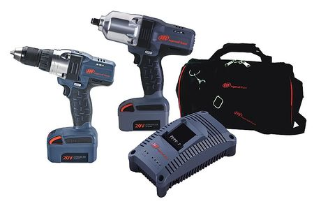 Ingersoll Rand IQV20-2012 IQV20 20V Cordless Lithium-Ion 1 2 in. & 3 8 in. Impact Wrench Combo Kit by Ingersoll-Rand