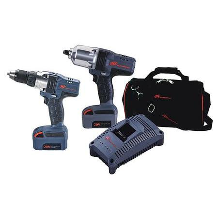 Ingersoll Rand Cordless Combo Kit 20 0 V 2 Tools 2 Batt Iqv20 2012