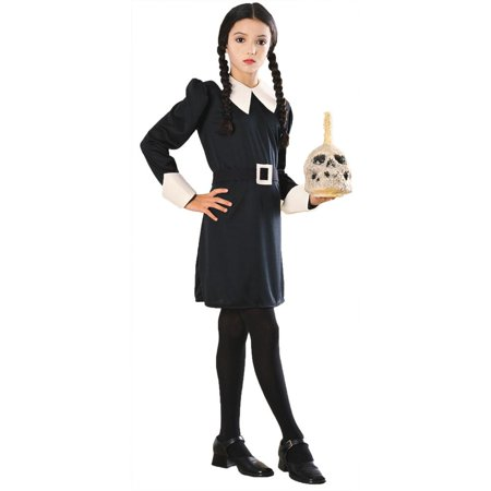 Morris Costumes Ru882631Md 8-10 Costumes/Childrens Addams Fam Wednesday Child Md - Wednesday Adams Family Costume