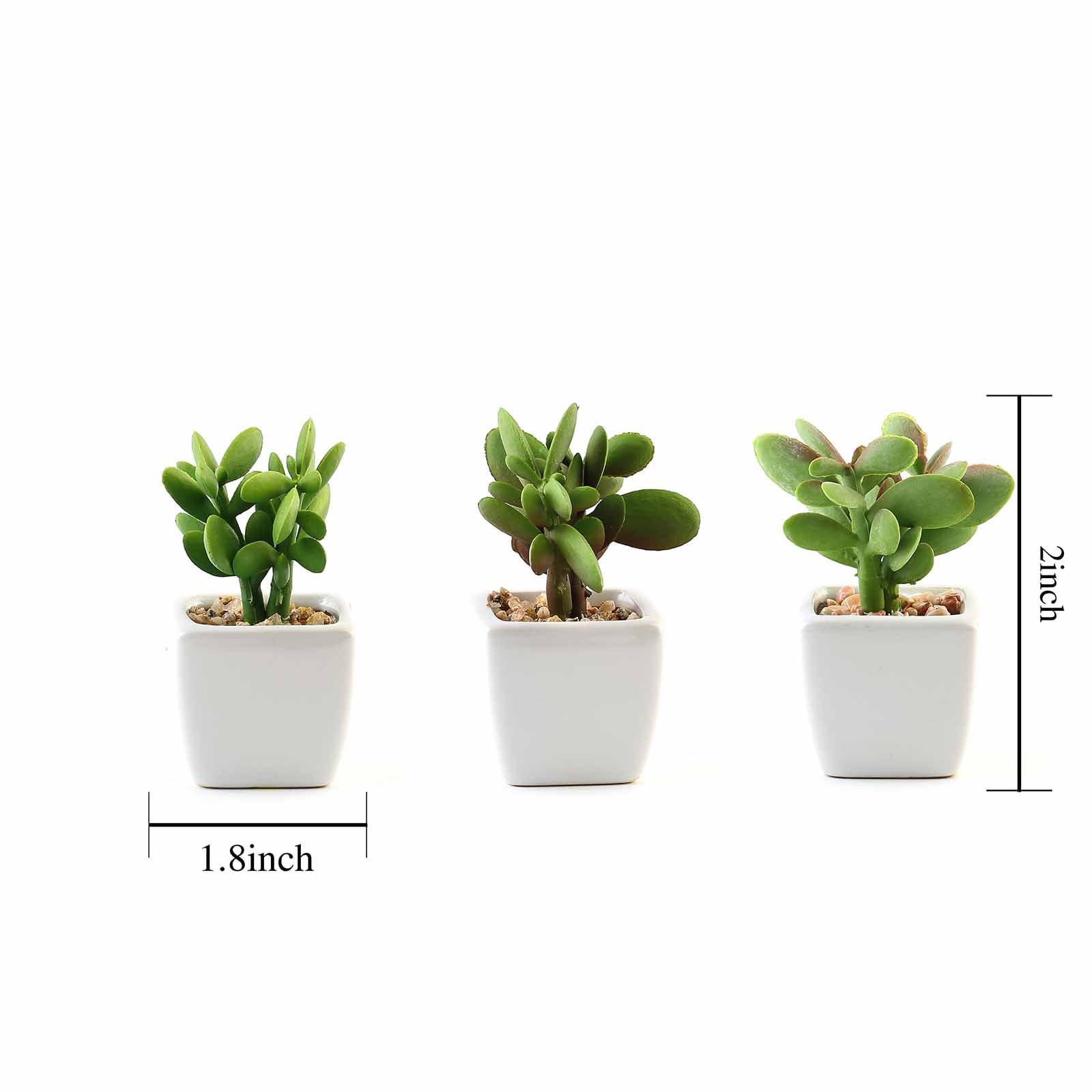 Balsacircle 3 Pcs 3 Inch Green Assorted Artificial Faux Small Succulent Plants With Pots Home Wedding Tabletop Centerpieces Decorations Walmart Com Walmart Com