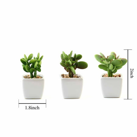Balsacircle 3 Pcs Inch Orted Artificial Faux Small Succulent Plants With Pots Home Wedding Tabletop Centerpieces Decorations