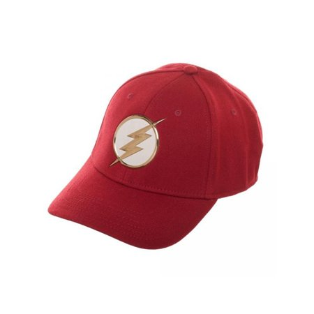 DC Comics The Flash Flex Fit Hat Barry Allen CW Central City Star Labs Cap Gift - Flash Hat