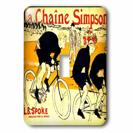 3dRose French Ad The Chain For Bikes By Lautrec - Single Toggle Switch (lsp_62257_1)