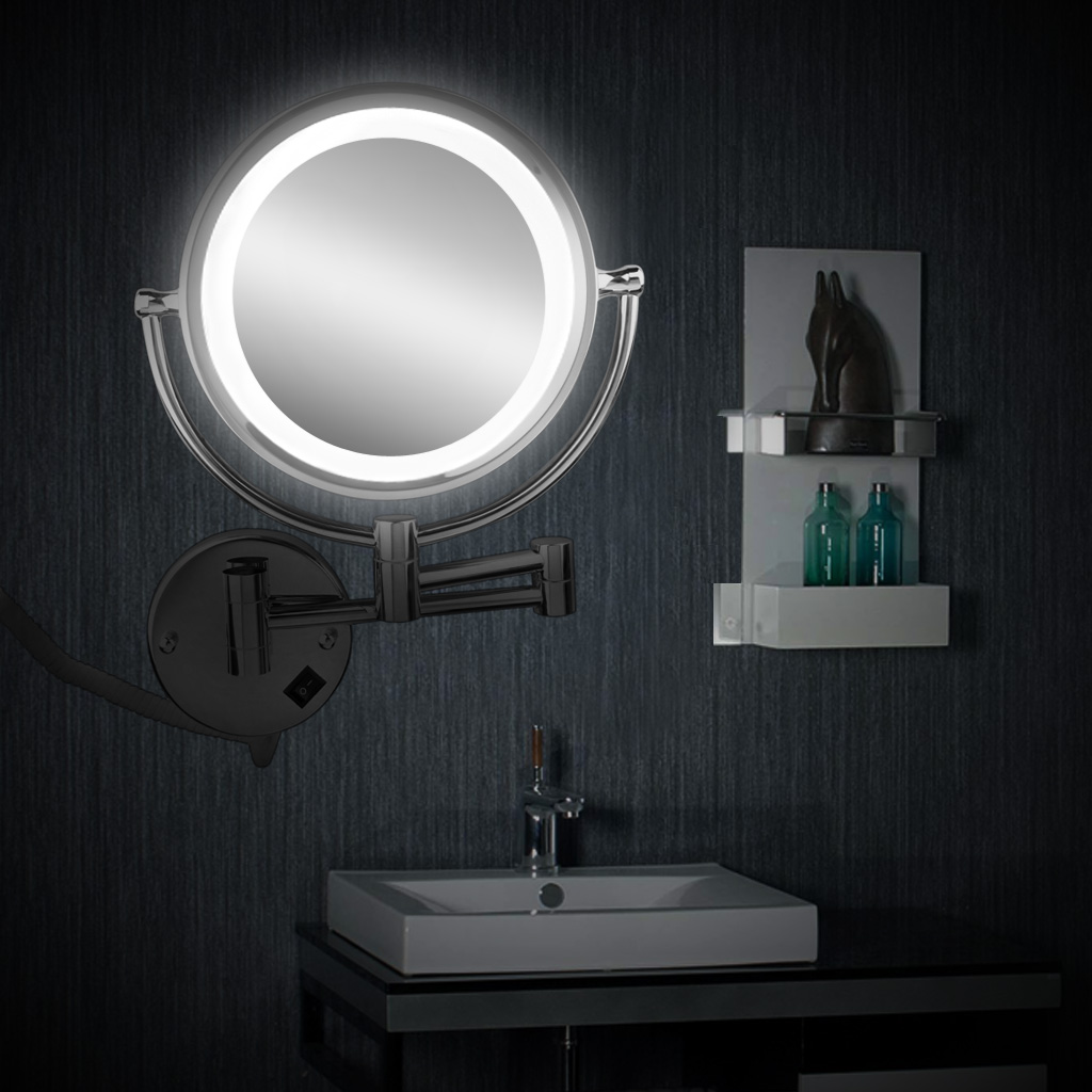 Excelvan wall mounted led double side swivel lighted wall mount excelvan wall mounted led double side swivel lighted wall mount makeup mirror 8 inch 10x magnification mirror walmart aloadofball Gallery