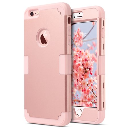iPhone 6 Plus / 6S Plus Case, ULAK 3D Bling Rhinestone Heavy Duty Shockproof Hybrid Hard PC Soft Silicone Rubber Protective Case ()