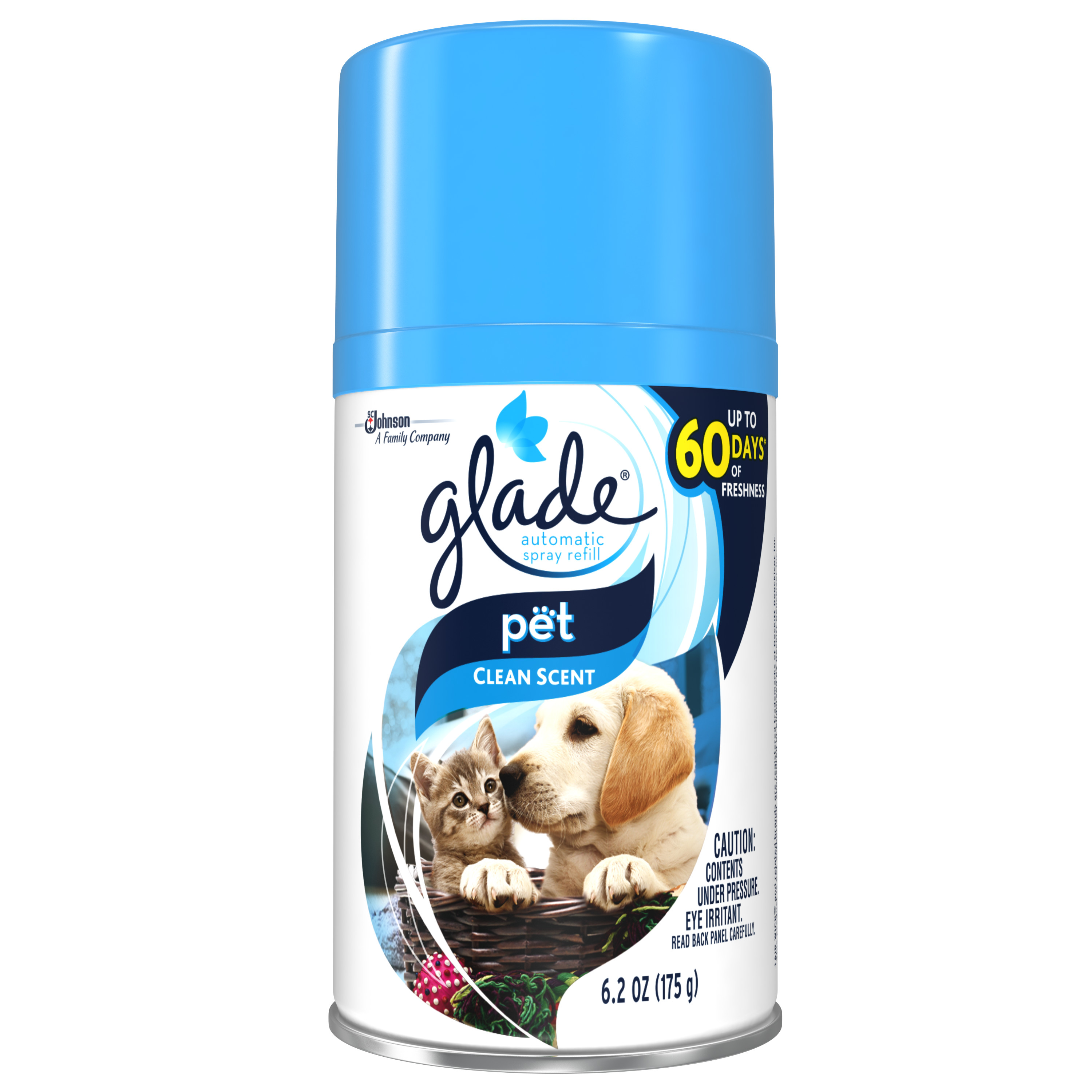 Glade Automatic Spray Air Freshener Refill, Pet Clean Scent, 6.2 Ounces