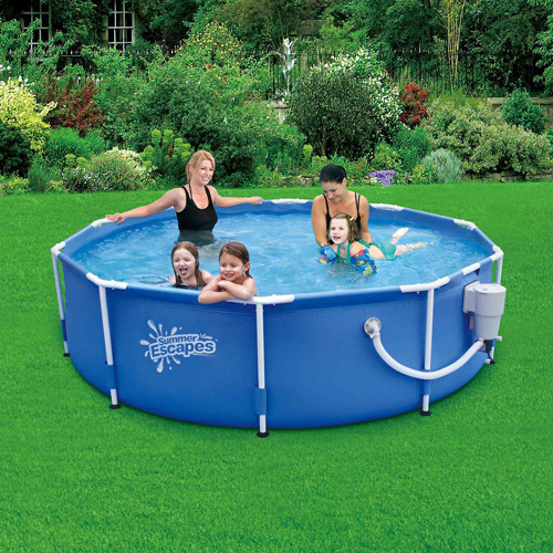 "Summer Escapes 10' x 30"" Metal Frame Swimming Pool"