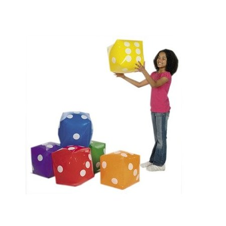Inflatable Dice Decorations - Blow Up Dice For Bunco or Casino night- Green (Casino Night Prize Ideas)