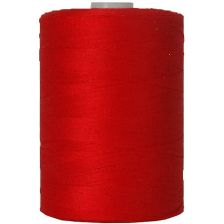 Threadart Cotton Sewing Thread - 1000m Spools - 50/3 - Red - 50 Colors Available - Pack of 3 - Spool Lo Vis Green