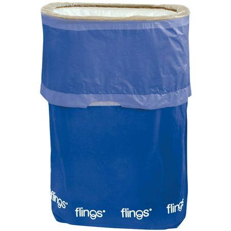 Flings Pop Up Trash Bin Red