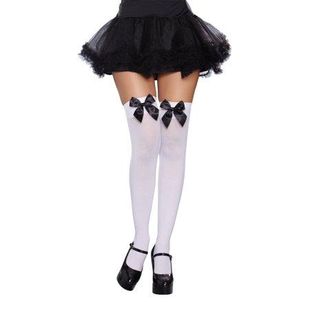 5f7e1d262 Dreamgirl - Bow Top Stockings - Walmart.com