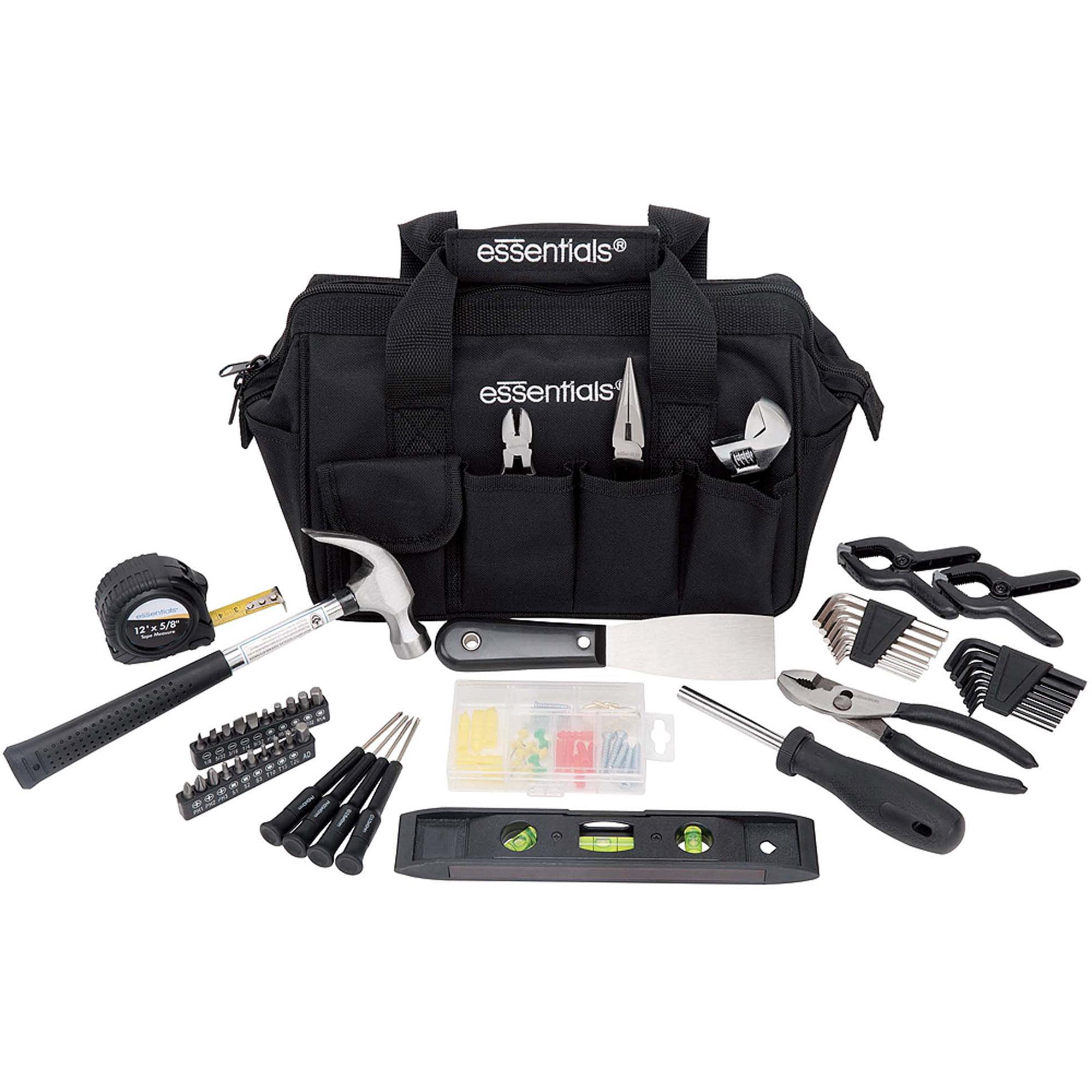 kids 18 piece tool set with blue toolbox walmart com