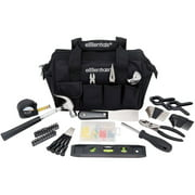 Essentials 53-Piece Around-the-House Basic Tool Kit with Black Tool Bag for Everyday Use and DIY