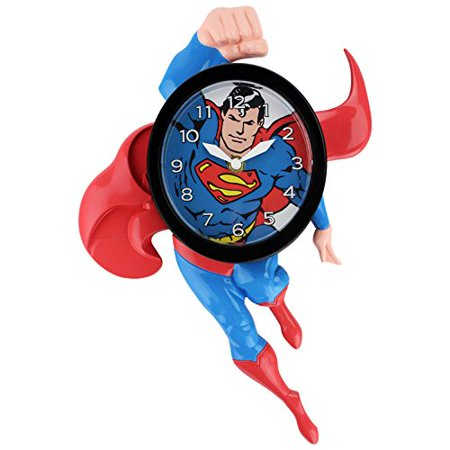 Superman 3-D Motion Clock, Superman's arms and legs swing back and forth By NJ - Superman Cloak