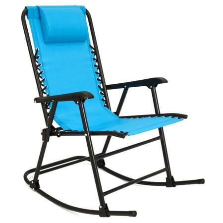 Best Choice Products Foldable Zero Gravity Rocking Patio Recliner Chair -  Light Blue - Walmart.com - Best Choice Products Foldable Zero Gravity Rocking Patio Recliner