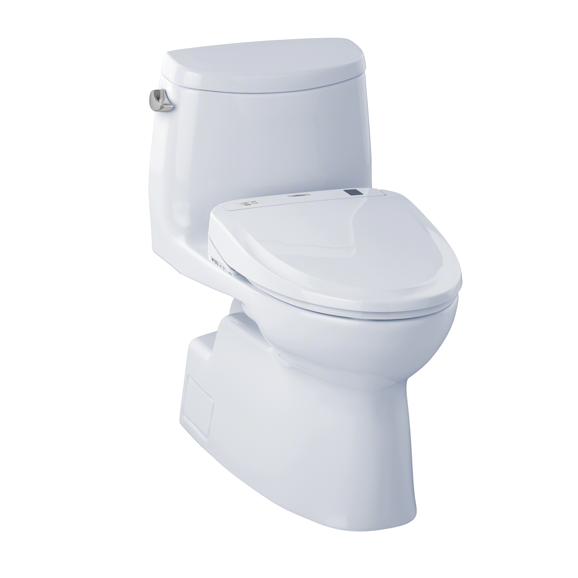 TOTO® Connect+® Kit Carlyle® II One-Piece Elongated 1.28 GPF Toilet and Washlet® S300e Bidet Seat, Cotton White - MW614574CEFG#01