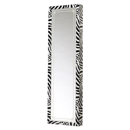 Mirrotek Plaza Astoria Over the Door / Wall Mount Jewelry Armoire with Full Length Mirror ()