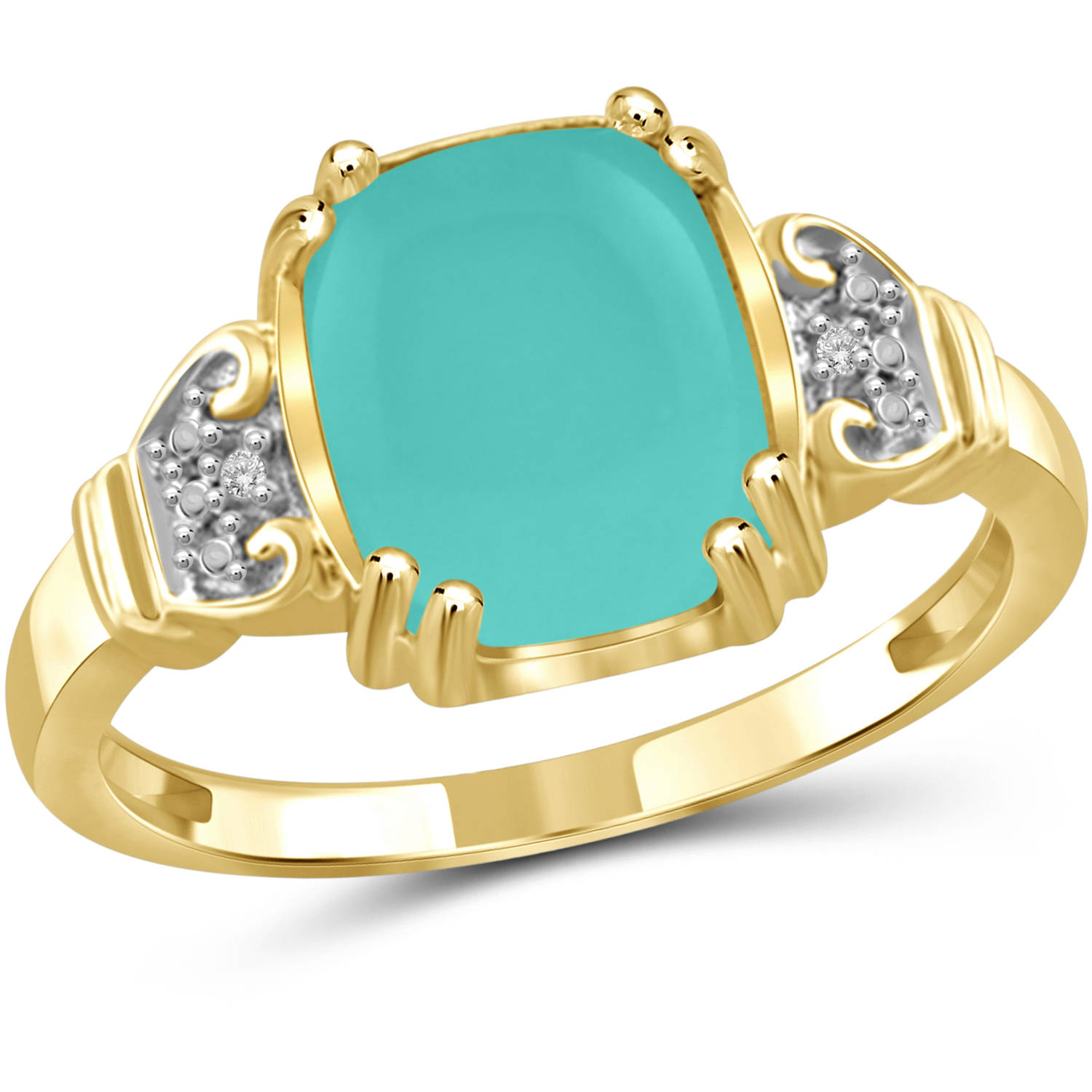 JewelersClub 2-3 4 Carat T.G.W. Chalcedony and White Diamond Accent 14kt Gold over Silver Fashion Ring by JewelersClub