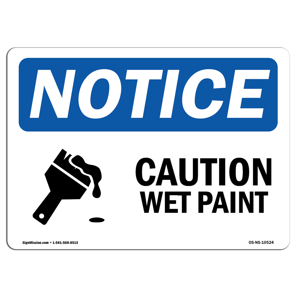 image about Printable Wet Paint Sign titled OSHA Interest Signal - Warning Damp Paint Signal With Logo Come to a decision towards: Aluminum, Stringent Plastic or Vinyl Label Decal Address Your Office,