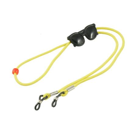 yellow elastic nylon neck rope ajustable rubber loop tip glasses retainer. Black Bedroom Furniture Sets. Home Design Ideas