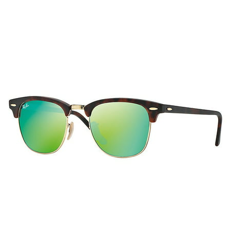 - Ray-Ban RB3016 Clubmaster Sunglasses, 51MM, Mirror Lens