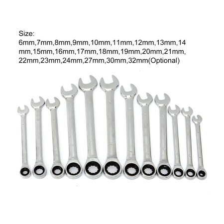 Ratchet Combination Wrench Set Torque Gear Spanner Wrenches Kit Key Hand Tools - image 5 de 5