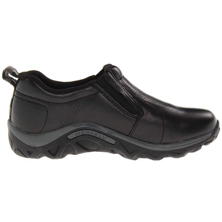 Merrell Kids' Jungle Moc Leather Casual Shoes (Black, 3.5)