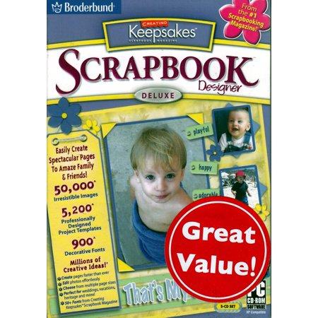 Scrapbook Factory Deluxe Software (Creating Keepsakes Scrapbook Designer Deluxe v.2 - The #1 Source in Scrapbooking)