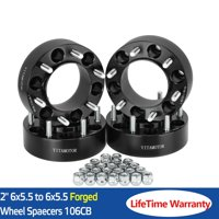 "2"" 6X5.5 Hub Centric Wheel Spacers Adapters 6X139.7 For Toyota 4Runner Tacoma"