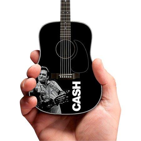 Artist Signature Guitars - Axe Heaven Johnny Cash Signature Black Mini Acoustic Guitar Tribute Model - Middle Finger