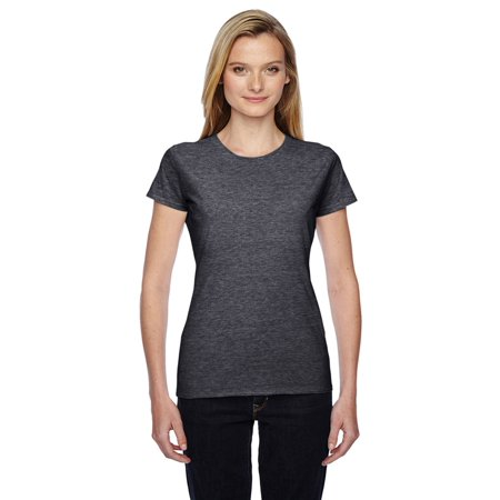 Fruit of the Loom women's Cotton Jersey T-Shirt, Charcoal Heather, 3X, Style, SFJR