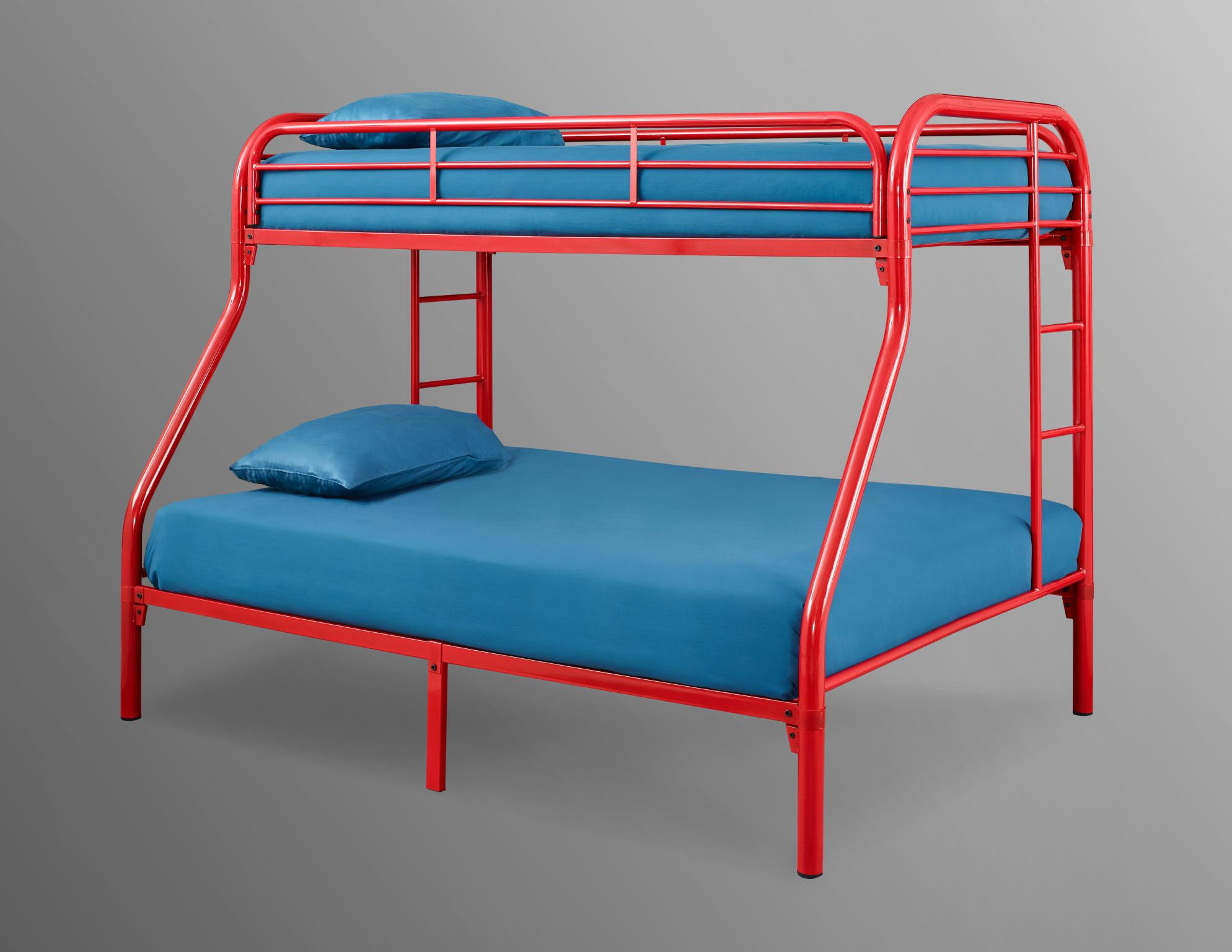 Picture of: Palmer Red Twin Over Full Metal Bunk Bed Walmart Com Walmart Com