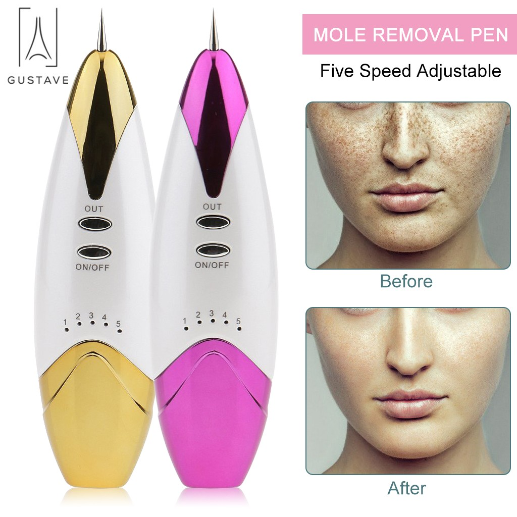 GustaveDesign Dot Mole Removal Pen Freckle Spot Tattoo Remover Beauty Skin Machine Gold