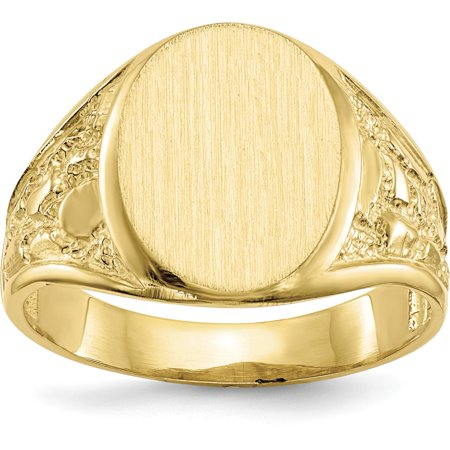 14K Yellow Gold Mens Signet Ring Jewelry Size 10 14k Signet Mens Ring