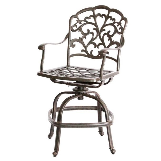 Darlee Catalina Swivel Patio Counter Stool In Bronze Set Of 2 Walmart Com Walmart Com