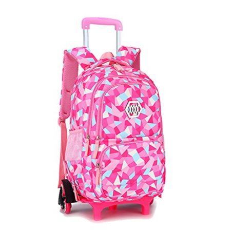 Meetbelify Kids Rolling Backpacks Luggage Six Wheels Unisex Trolley School  Bags Climbing Stairs Red Rose For Girls - Walmart.com f2342068194c7