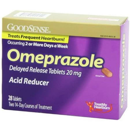 Delayed Release Acid Reducer (Good Sense Omeprazole Delayed Release, Acid Reducer Tablets 20 mg 28 ea (Pack of 2) )