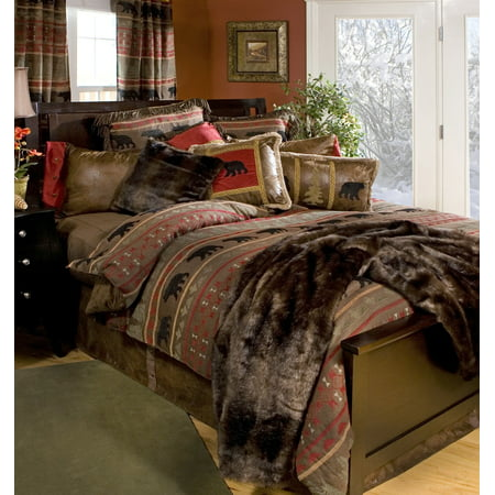 Carstens Bear Country Rustic Cabin Comforter Set Queen