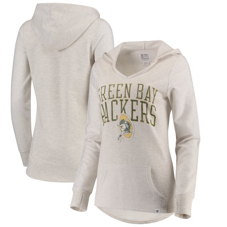 Green Bay Packers NFL Pro Line by Fanatics Branded Women's True Classics Pullover Hoodie - Cream