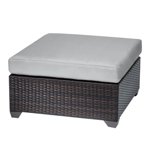 TK Classics Belle Outdoor Ottoman with Cushion