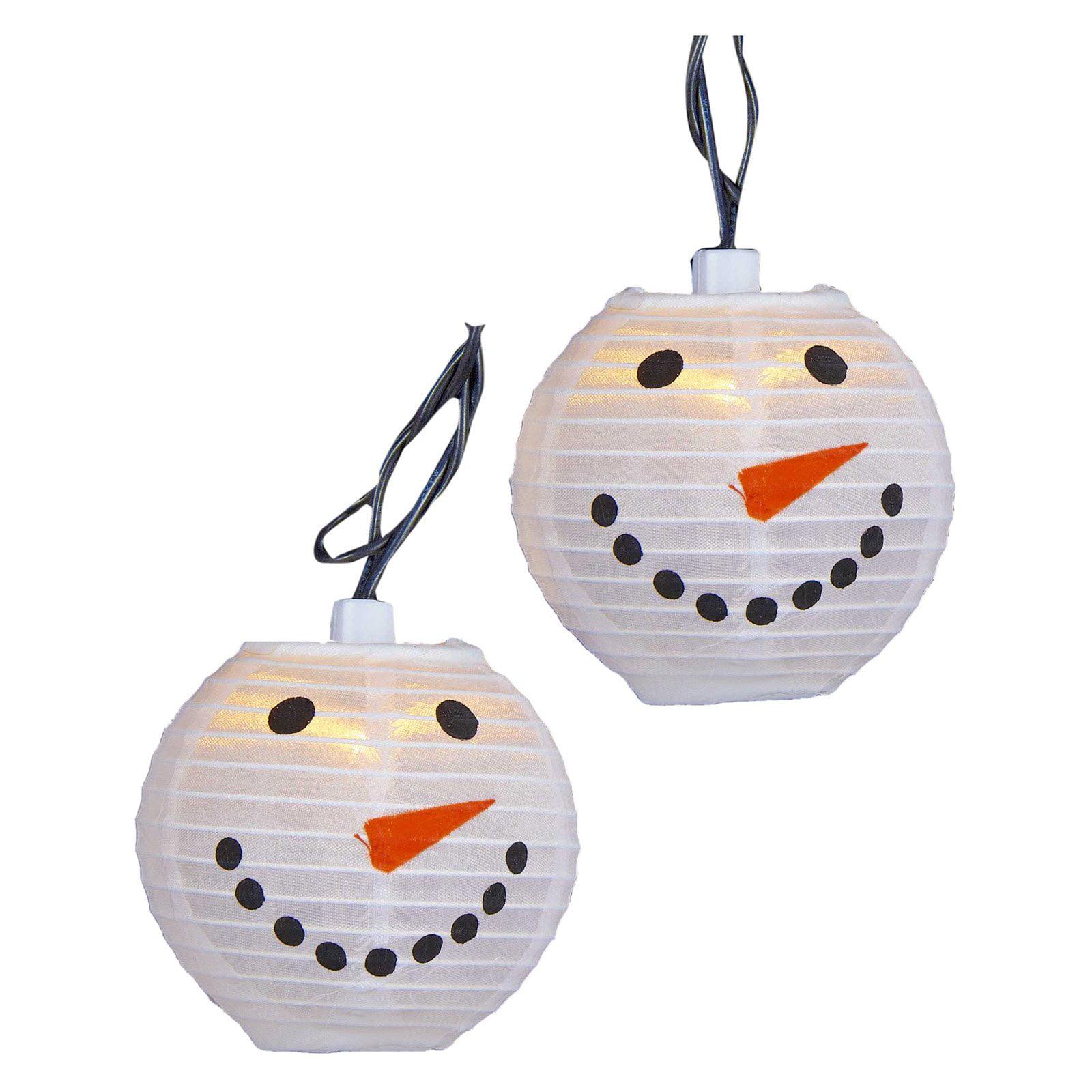 Kurt Adler 10 Light Snowman Lantern Light Set