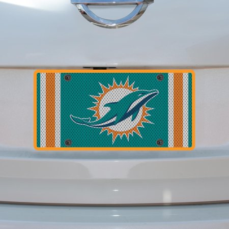 Miami Dolphins Jersey Acrylic Cut License Plate - No Size